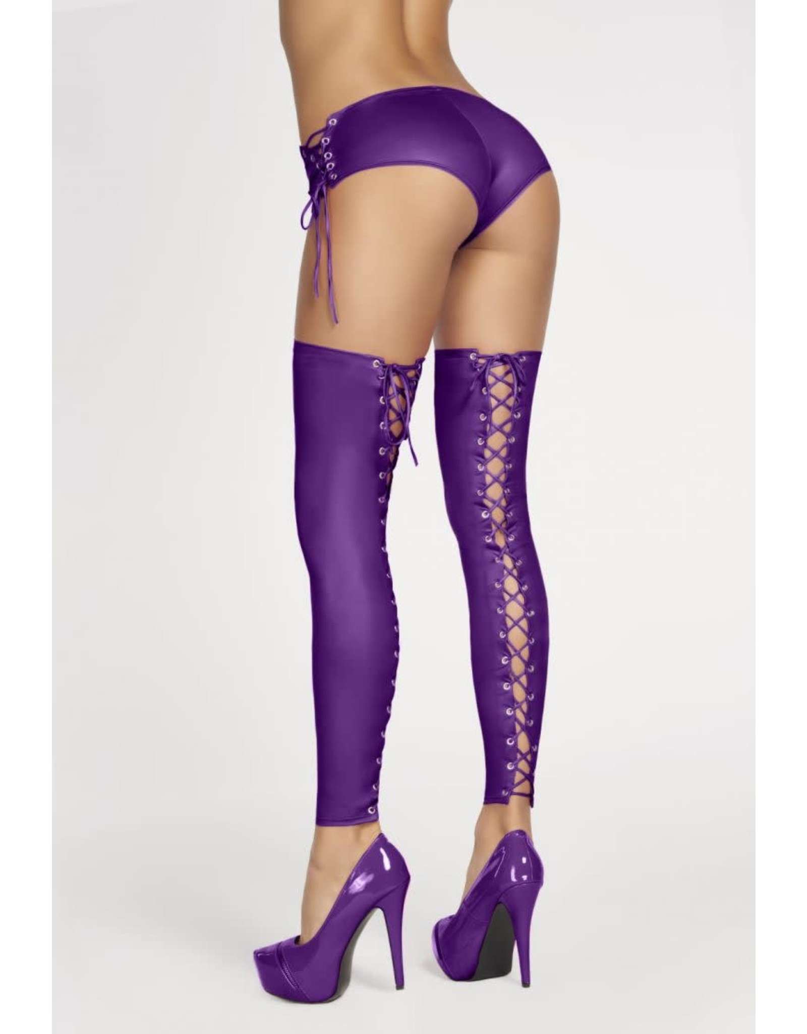 7 HEAVEN - SEXY LEGGINGS WITH LACING AT THE BACK - L/XL