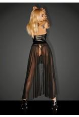 NOIR HANDMADE - POWER WET LOOK WITH TULLE DRESS - XL