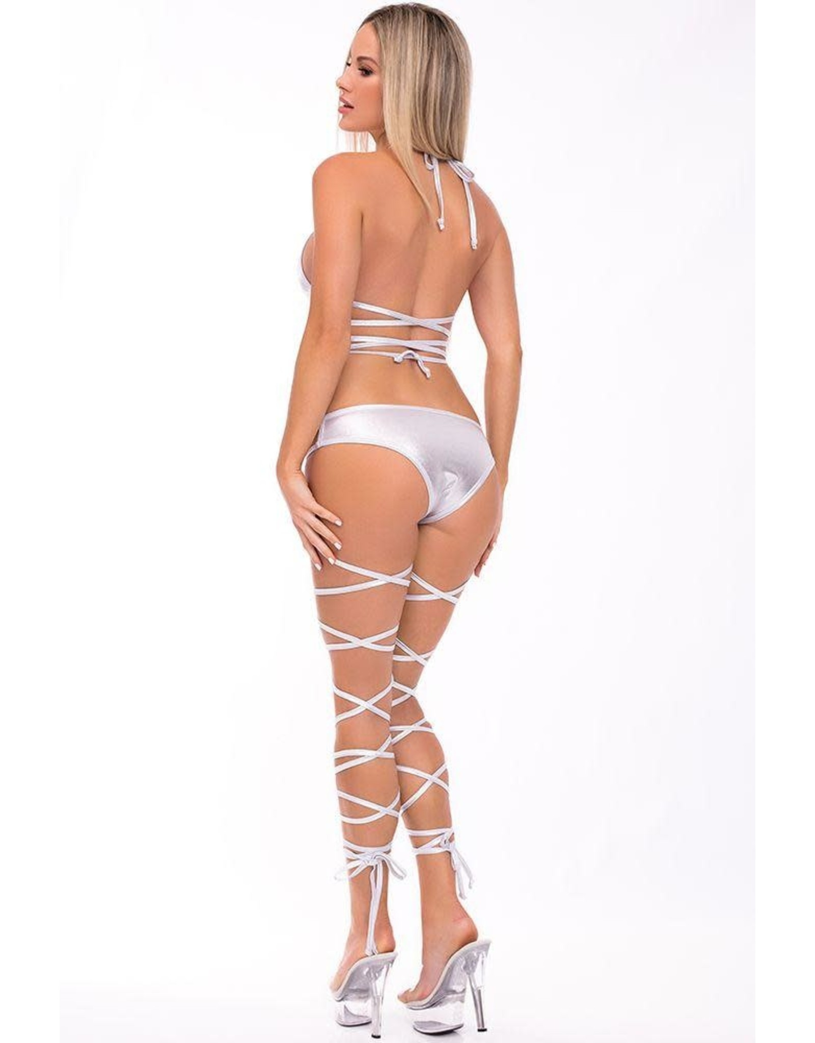 LACED UP LOVER 2PC BRA SET S/M