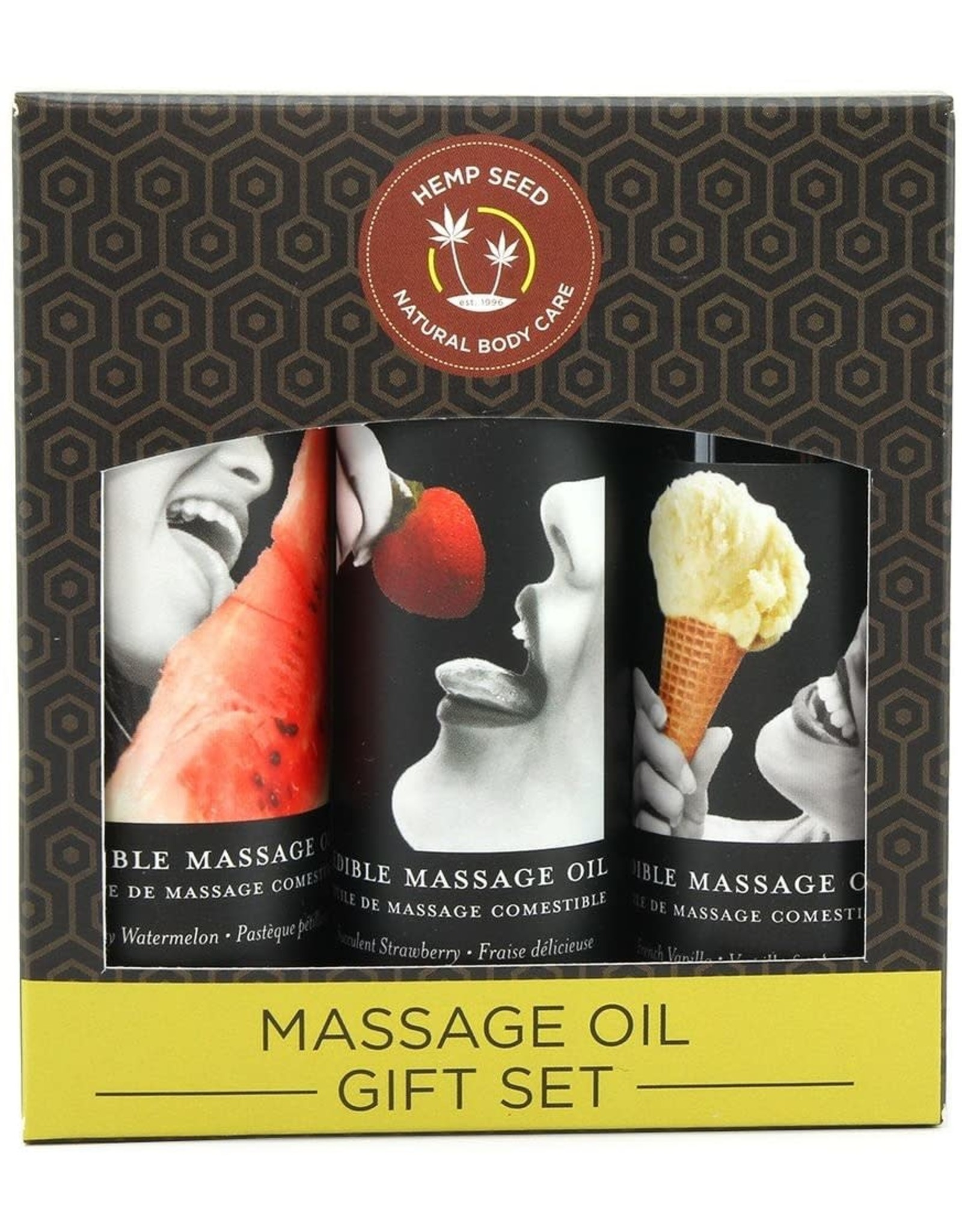 EARTHLY BODIES - EDIBLE MASSAGE OIL GIFT SET 3x2oz