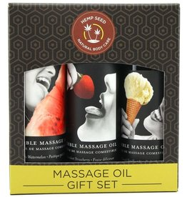 EARTHLY BODY EARTHLY BODIES - EDIBLE MASSAGE OIL GIFT SET 3x2oz