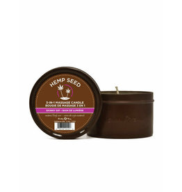 EARTHLY BODY EARTHLY BODIES - 3-IN-1 MASSAGE CANDLE - SKINNY DIP 6oz