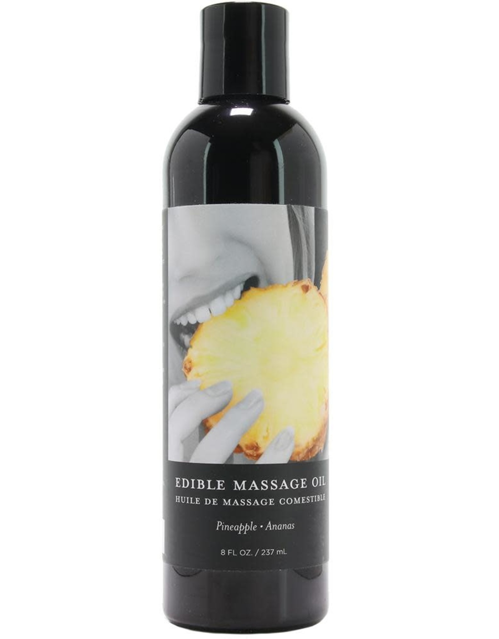 EARTHLY BODIES - EDIBLE MASSAGE OIL - PINEAPPLE  8oz