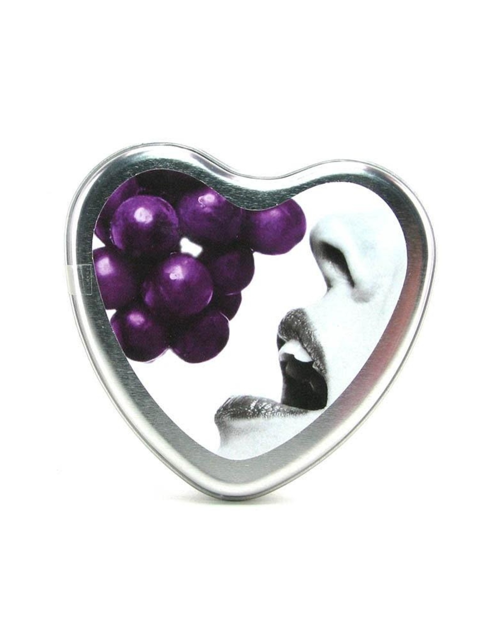 EARTHLY BODIES - 3-IN-1 MASSAGE OIL CANDLE - GRAPE