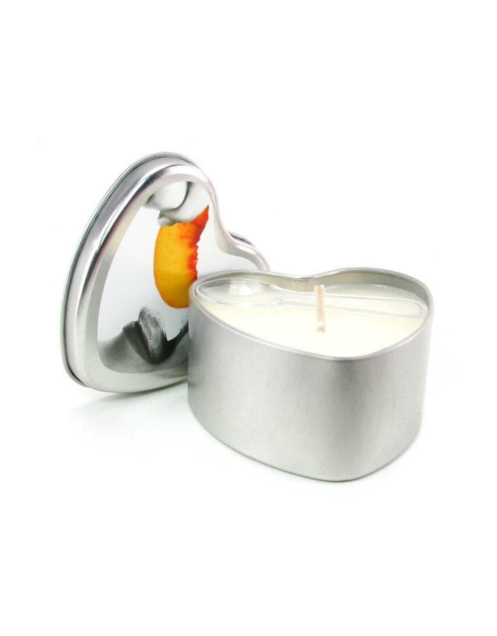 EARTHLY BODIES - 3-IN-1 MASSAGE OIL CANDLE - PEACH