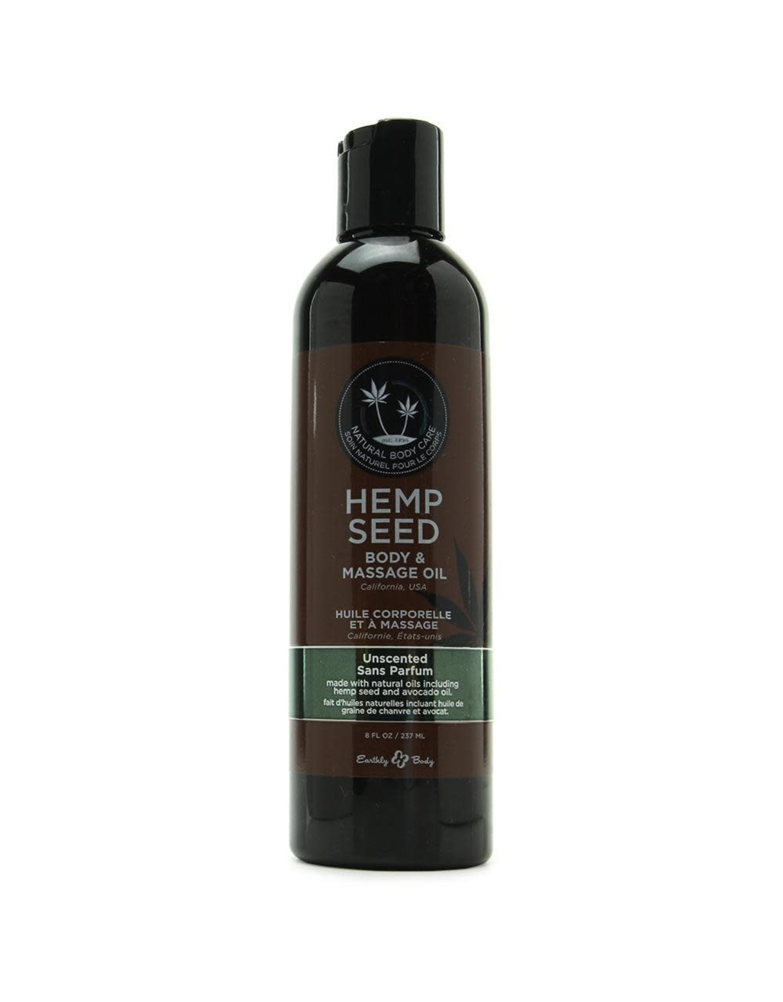 EARTHLY BODIES - HEMP SEED MASSAGE OIL - UNSCENTED  8oz