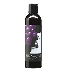 EARTHLY BODY EDIBLE MASSAGE OIL - GRAPE 8oz