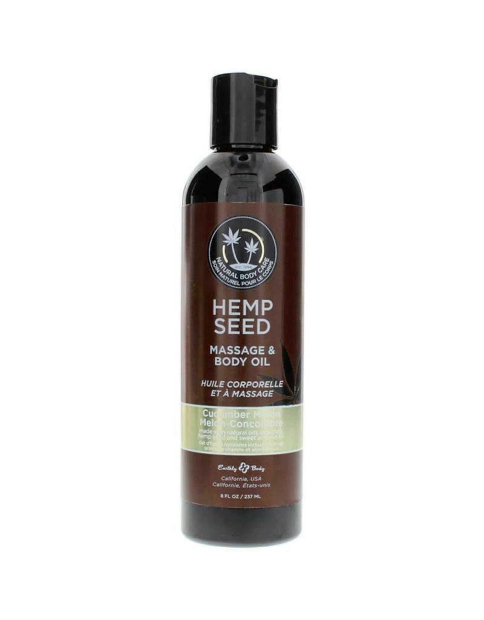 EARTHLY BODIES - HEMP SEED MASSAGE OIL - CUCUMBER MELON 8oz