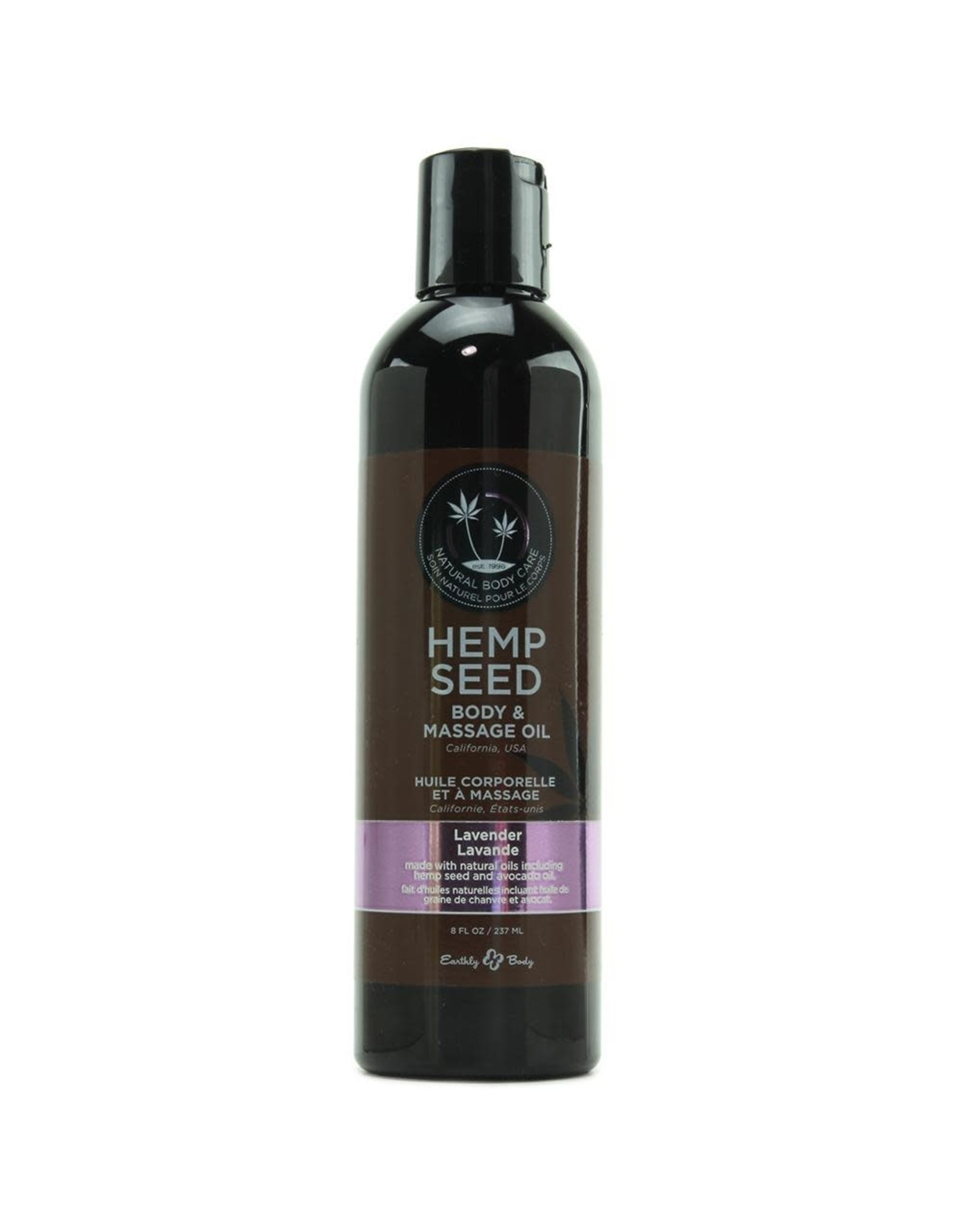 EARTHLY BODIES -  HEMP SEED MASSAGE OIL - LAVENDER  8oz