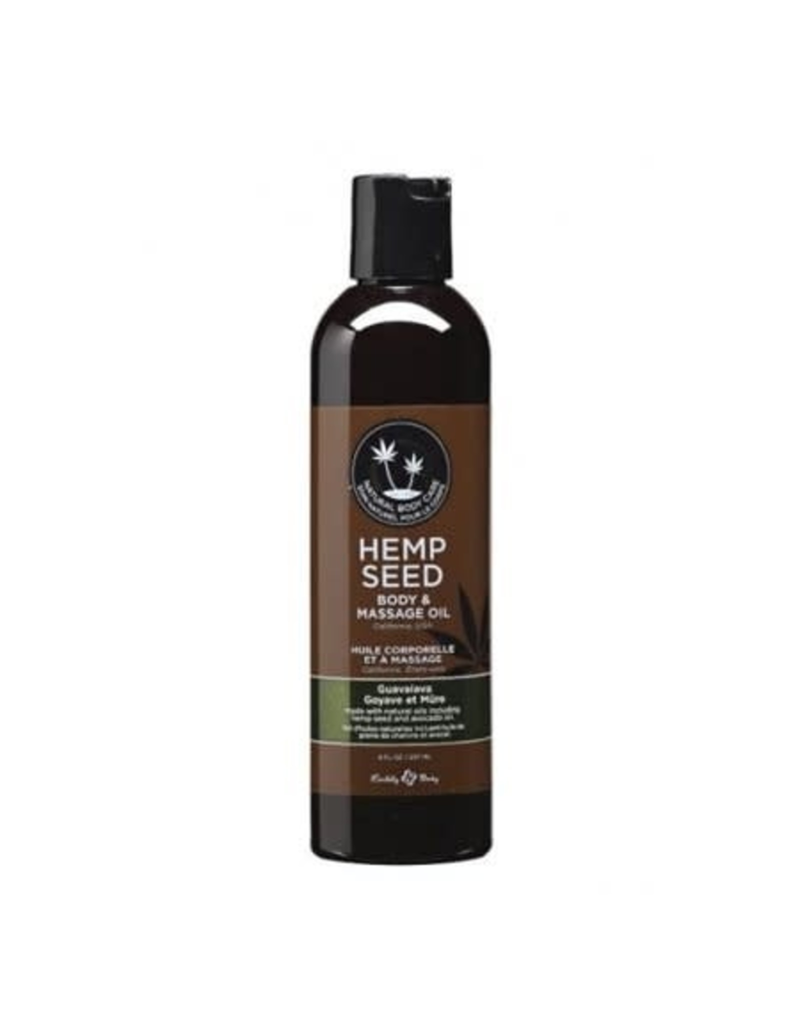 EARTHLY BODY EARTHLY BODIES - HEMP SEED MASSAGE OIL - GUAVALAVA 8oz