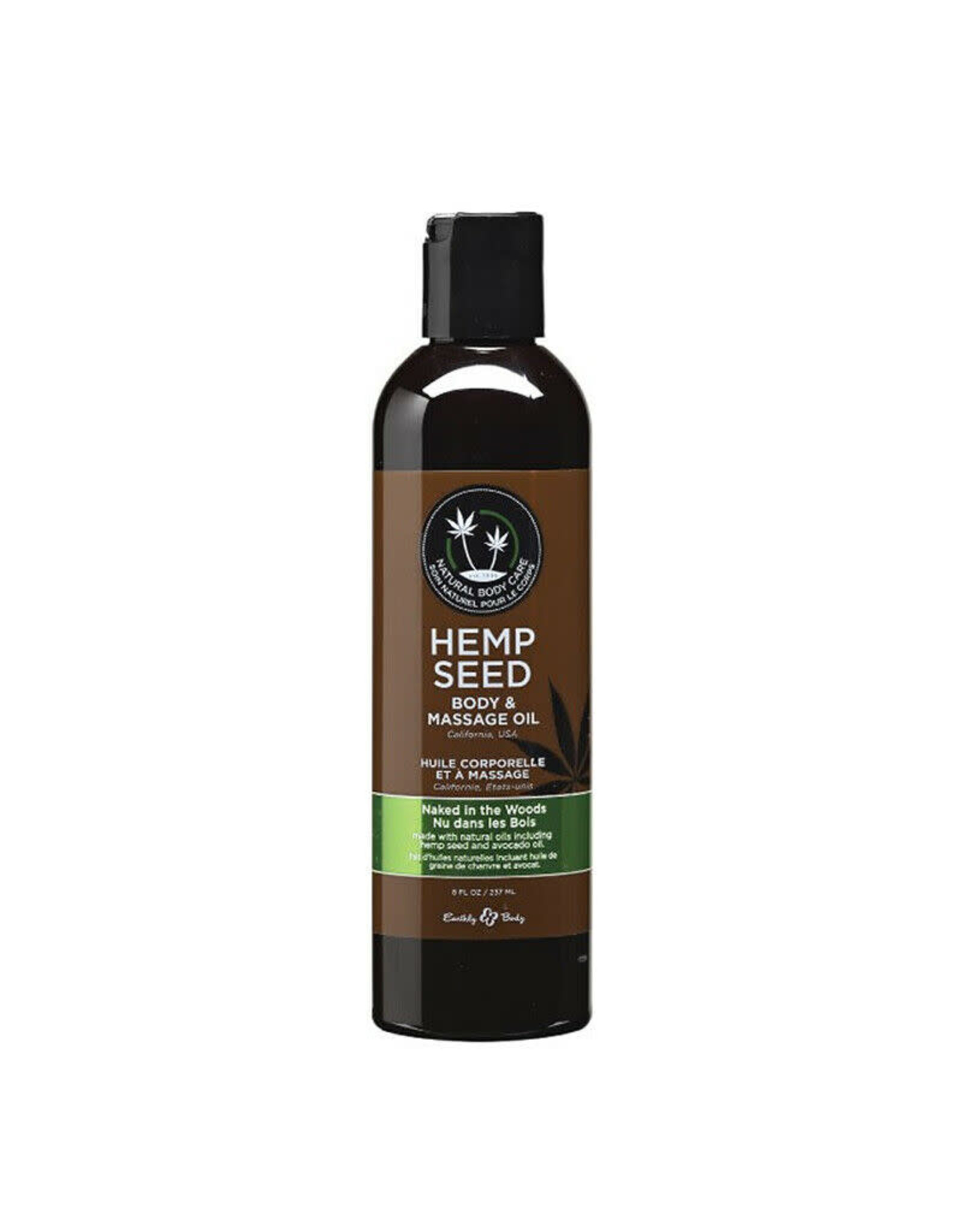 EARTHLY BODIES - HEMP SEED MASSAGE OIL - NAKED IN THE WOODS 8oz