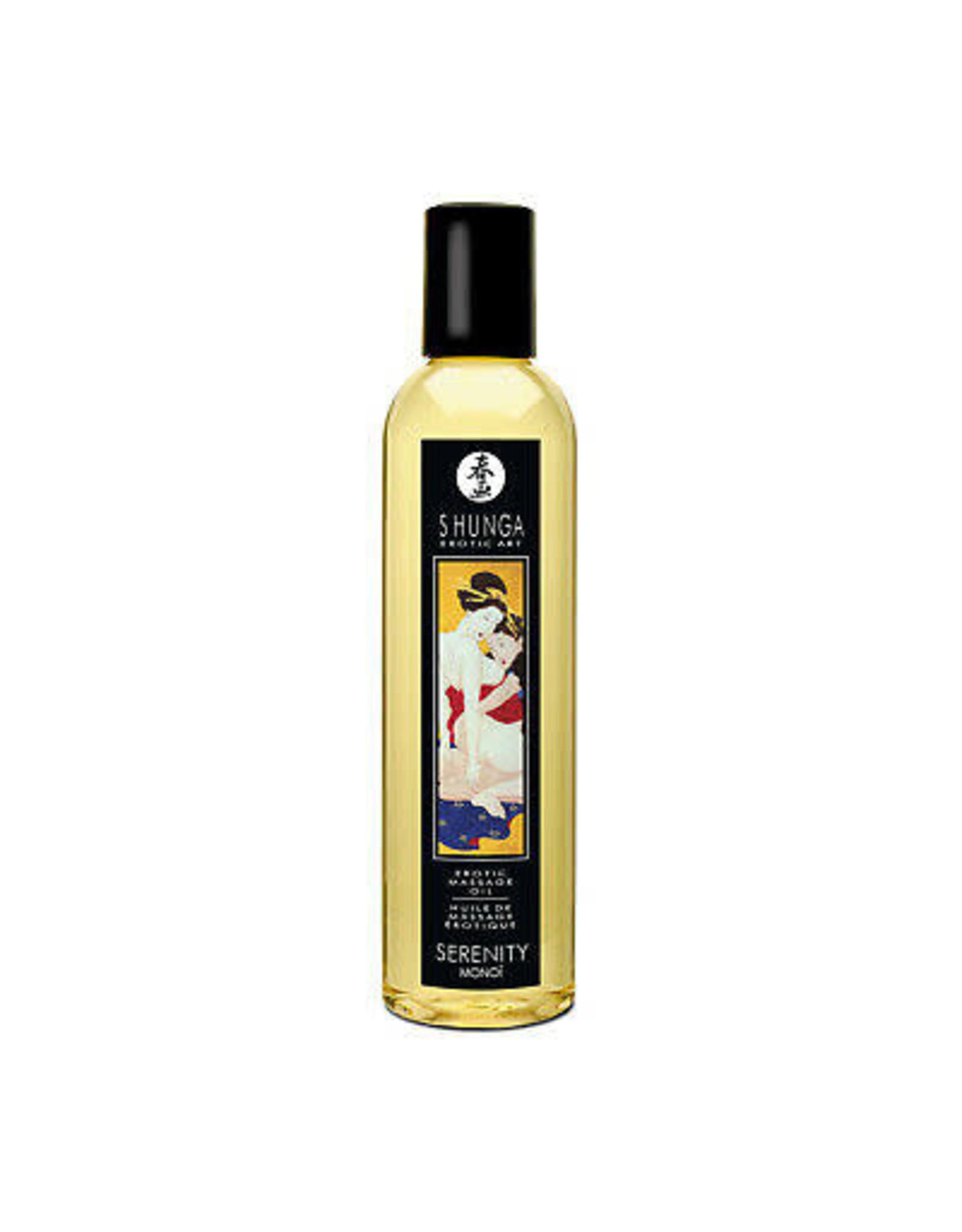 SHUNGA - EROTIC MASSAGE OIL - SERENITY (MONOI) 8oz