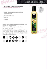 SHUNGA - ORGANICA KISSABLE MASSAGE OIL - MAPLE DELIGHT 8oz