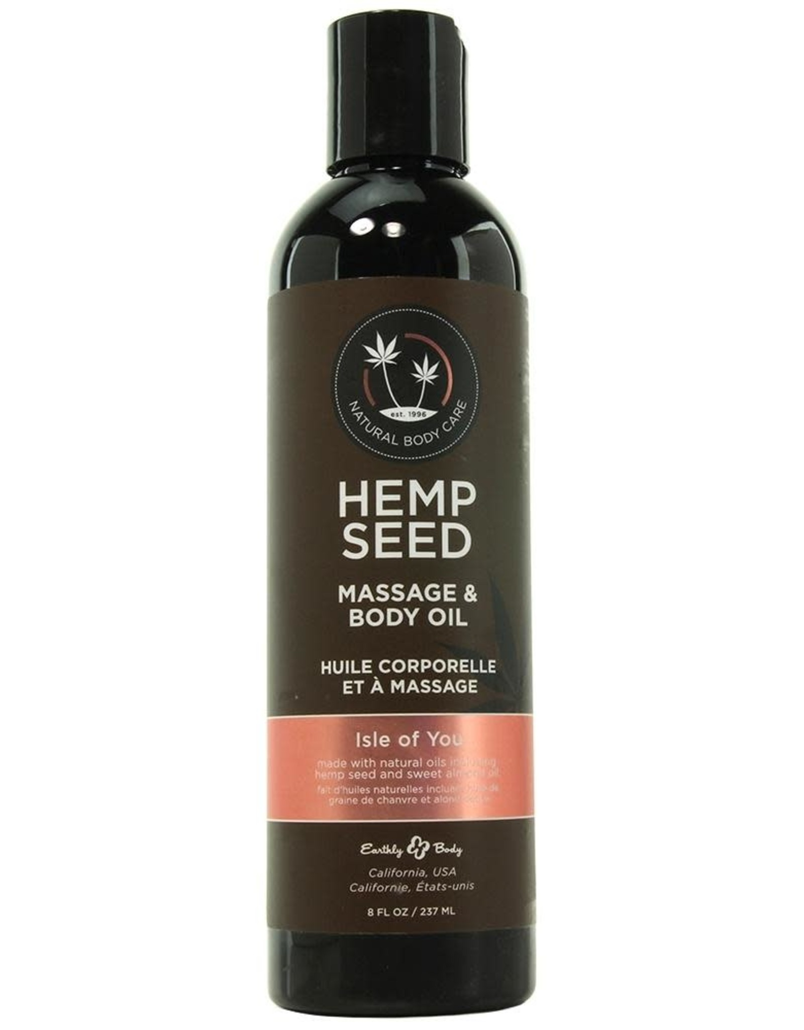 EARTHLY BODIES - HEMP SEED MASSAGE OIL - ISLE OF YOU 8oz