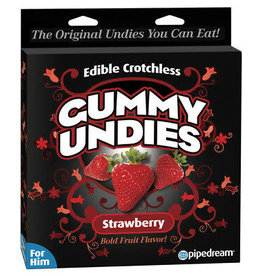 PIPEDREAM EDIBLE CROTCHLESS GUMMY UNDIES - STRAWBERRY