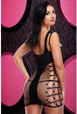 LAPDANCE - THINGS FALL JACQUARD MINI DRESS - ONE SIZE - BLACK