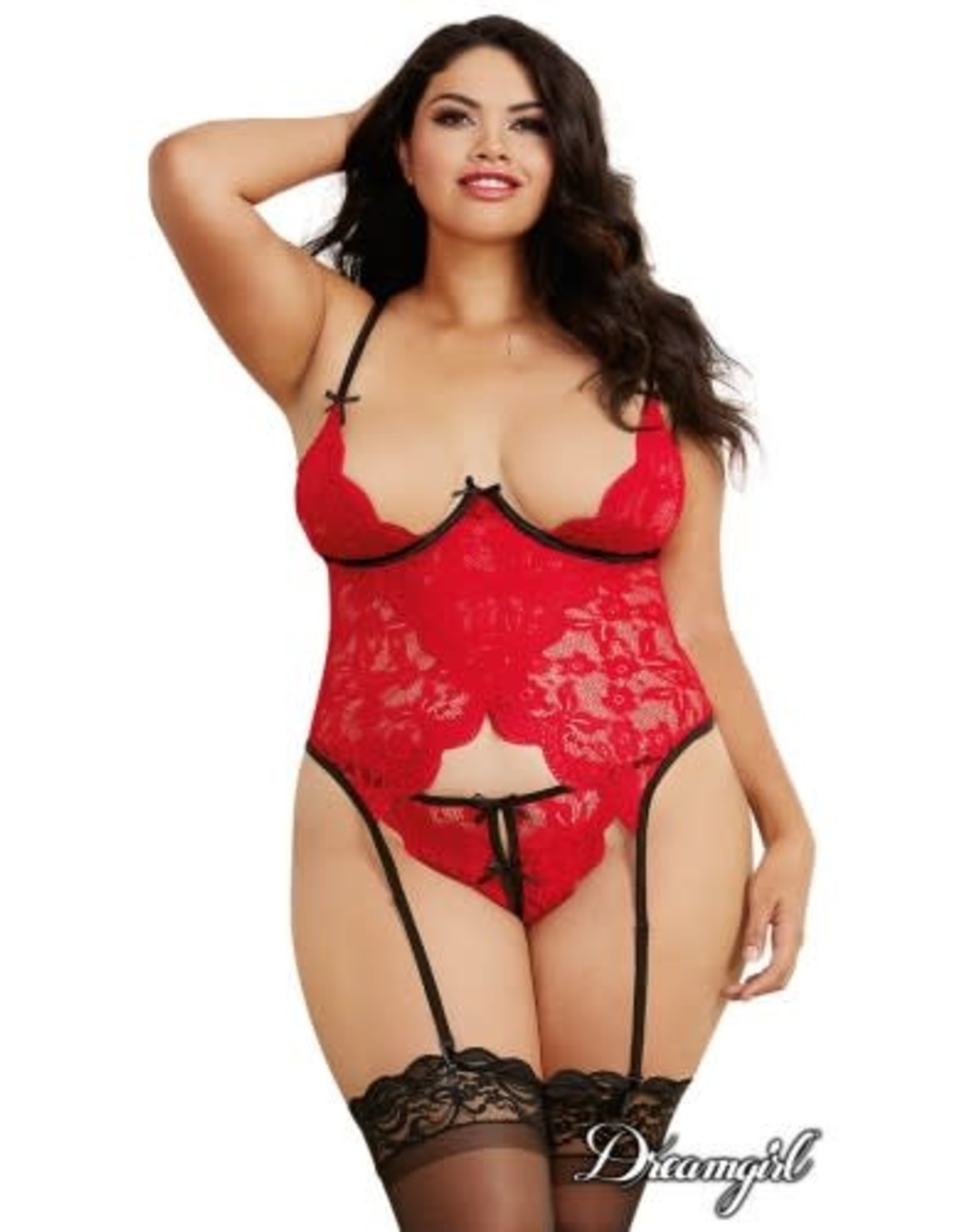 DREAMGIRL LINGERIE DREAMGIRL LIPSTICK RED BUSTIER QS