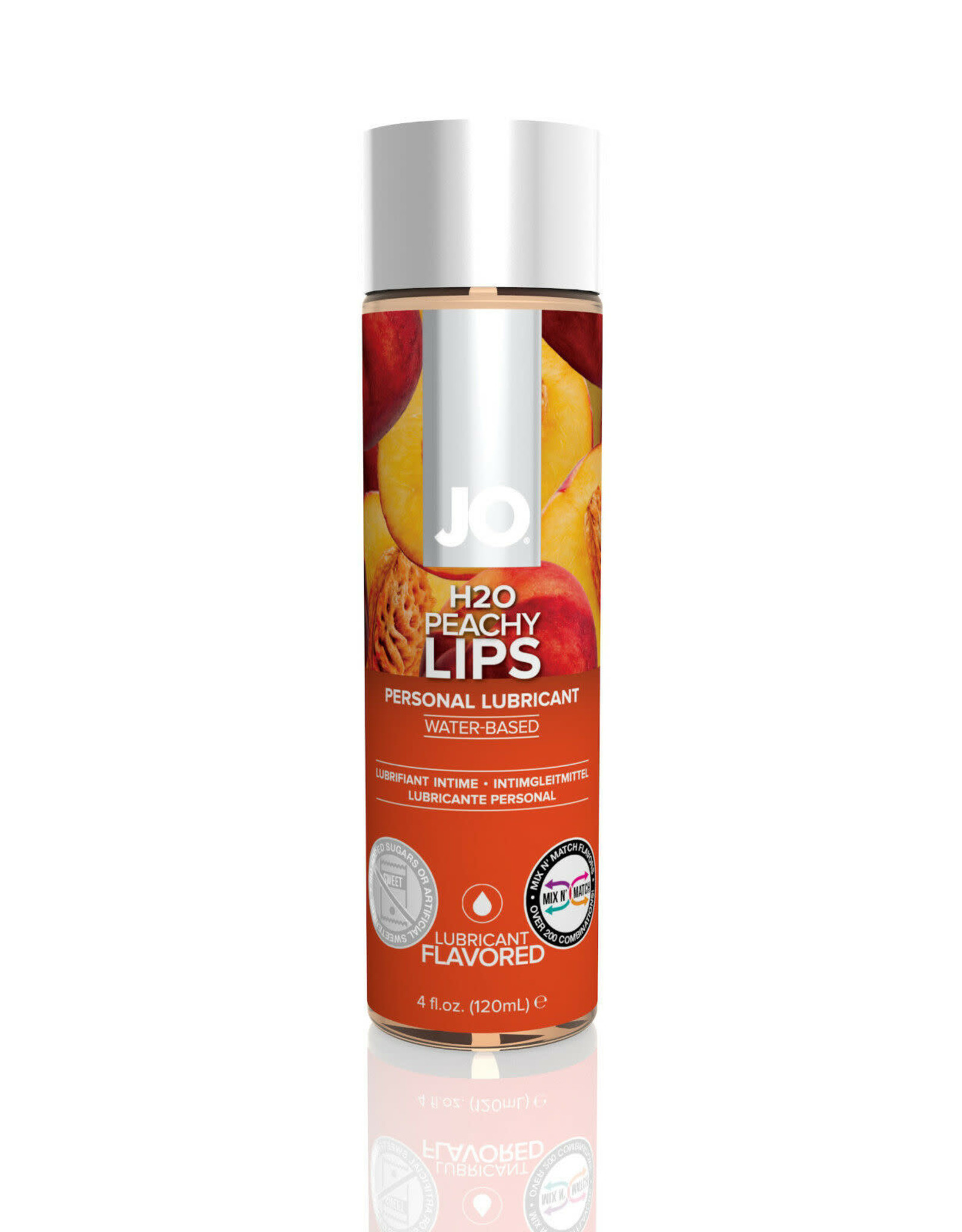 JO - H2O - FLAVOURED LUBRICANT - PEACHY LIPS - 4 oz