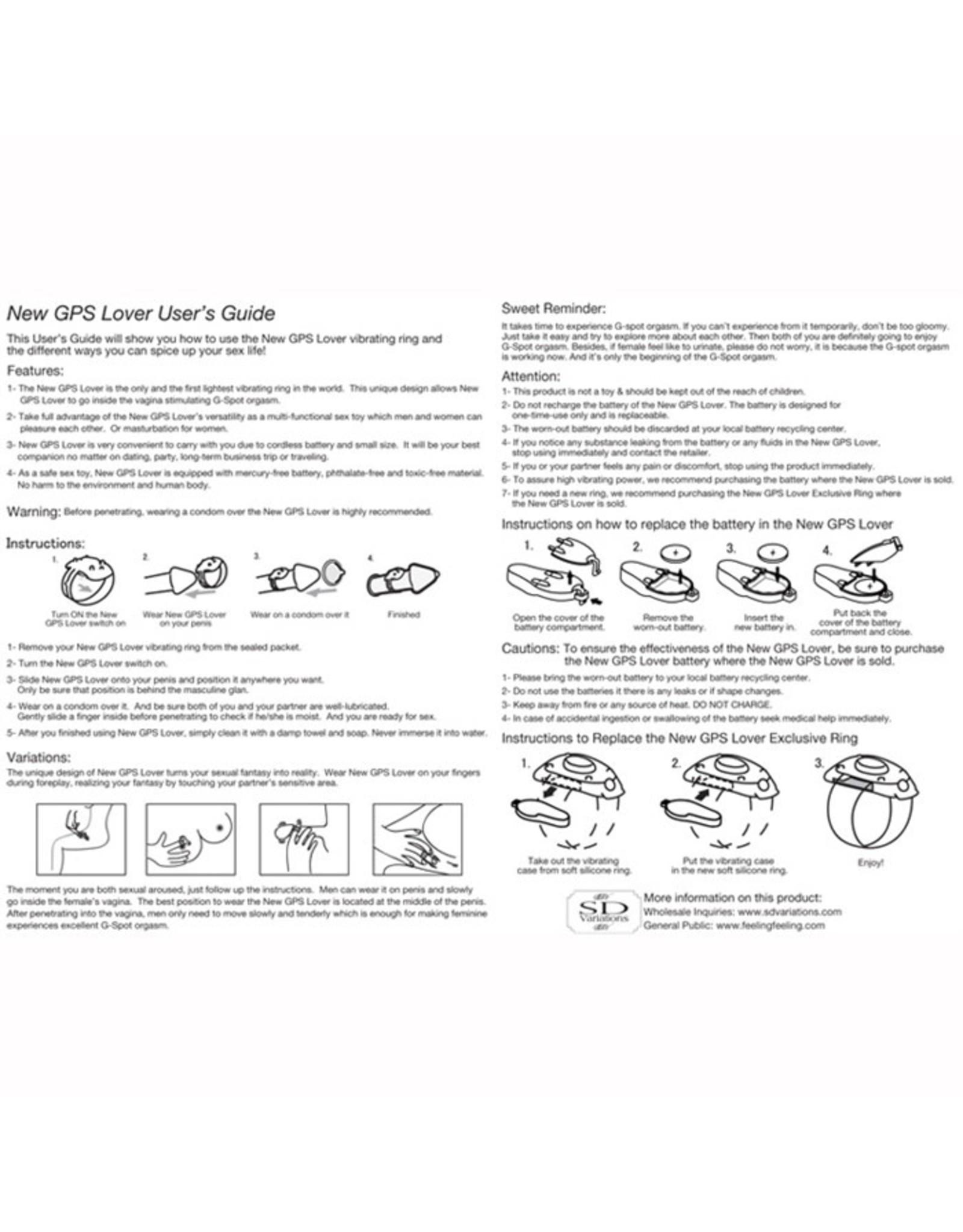 GPS LOVER - COCKRING/FINGER VIBE