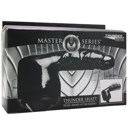 MASTER SERIES - THUNDER SHAFT PENIS WAND ATTACHMENT - BLACK