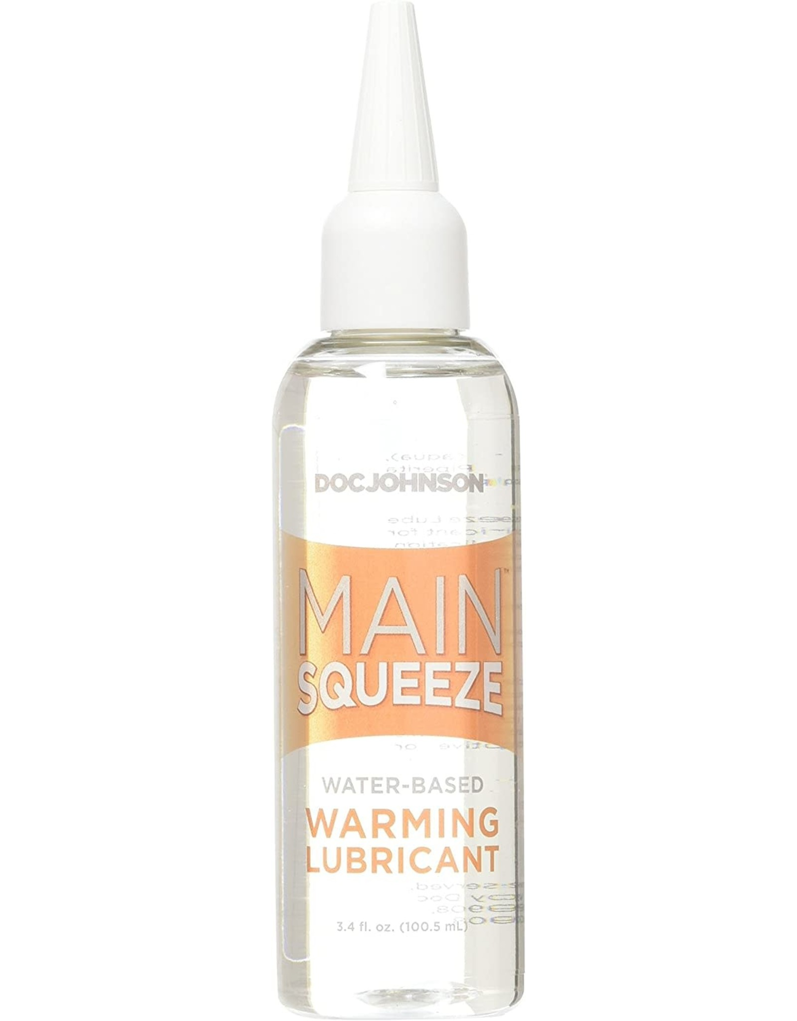 MAIN SQUEEZE LUBE - WATER-BASED - WARMING - 3.4 oz