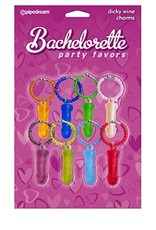 BACHELORETTE - DICKY WINE CHARMS - 8 PIECE