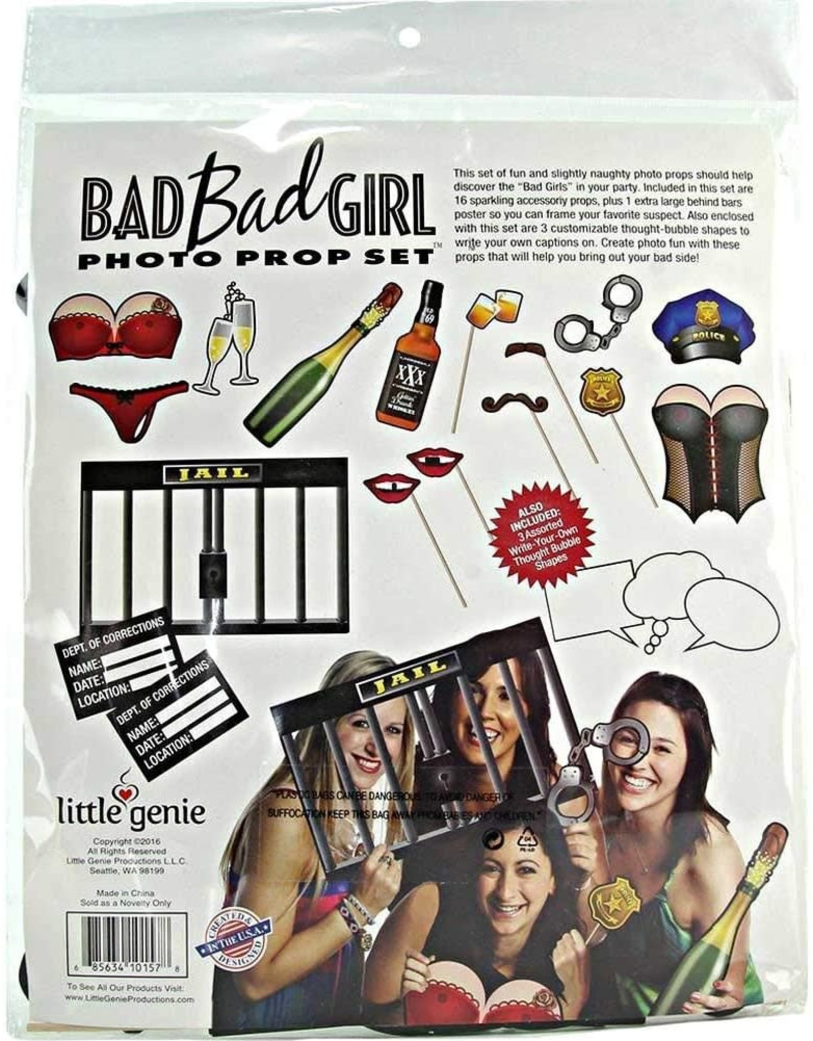 BAD GIRL PHOTO PROP SET