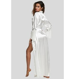 WHITE GLAMOUR VALENTINE LONG ROBE LARGE