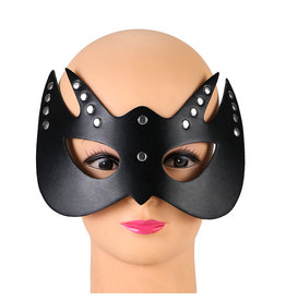 LEATHER CAT MASK STUDDED - 2 POINTS
