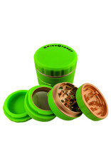 GRIND STONE 4 PCS SILICONE GRINDER 51MM - GREEN