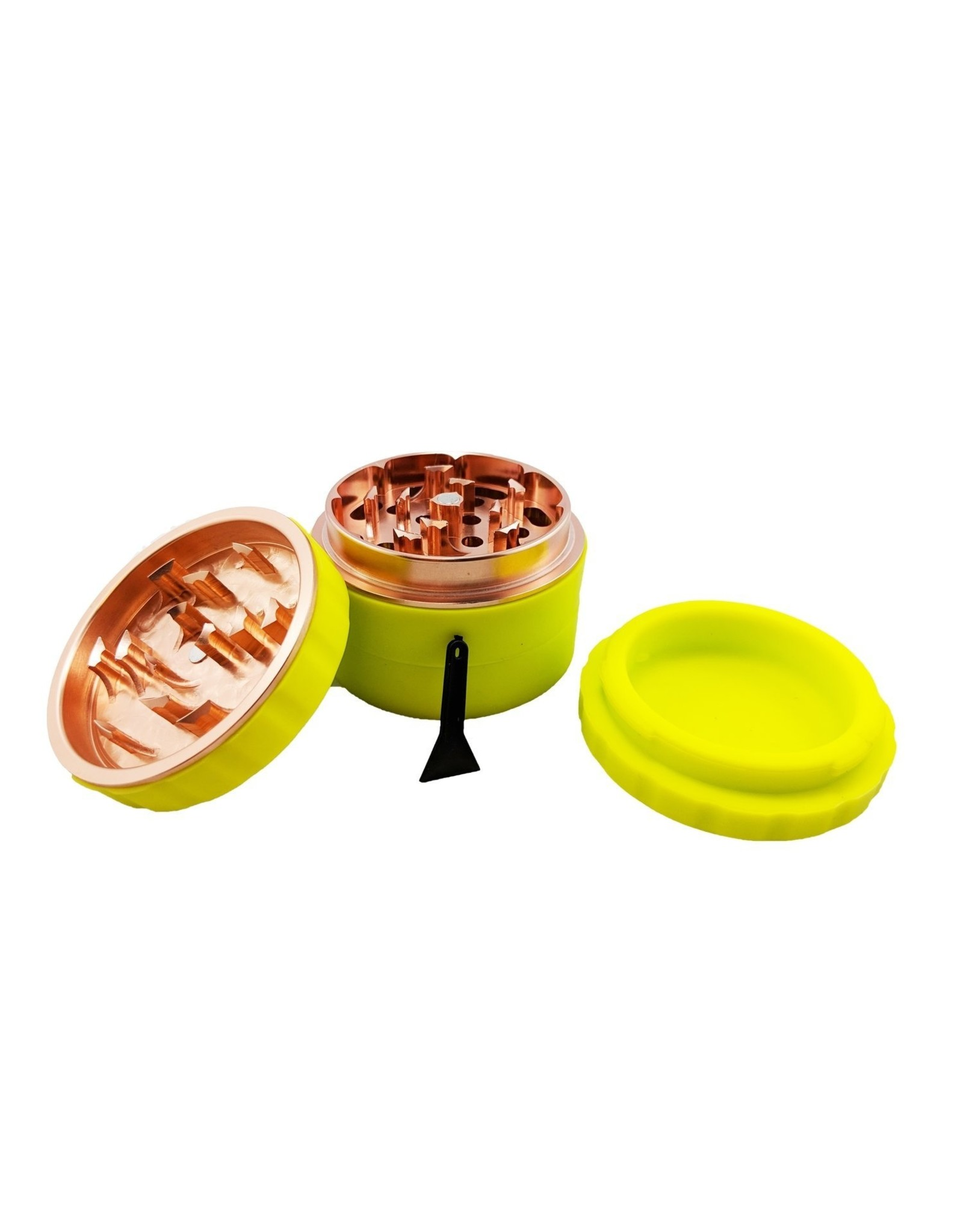 GRIND STONE 4 PCS SILICONE GRINDER 51MM - YELLOW