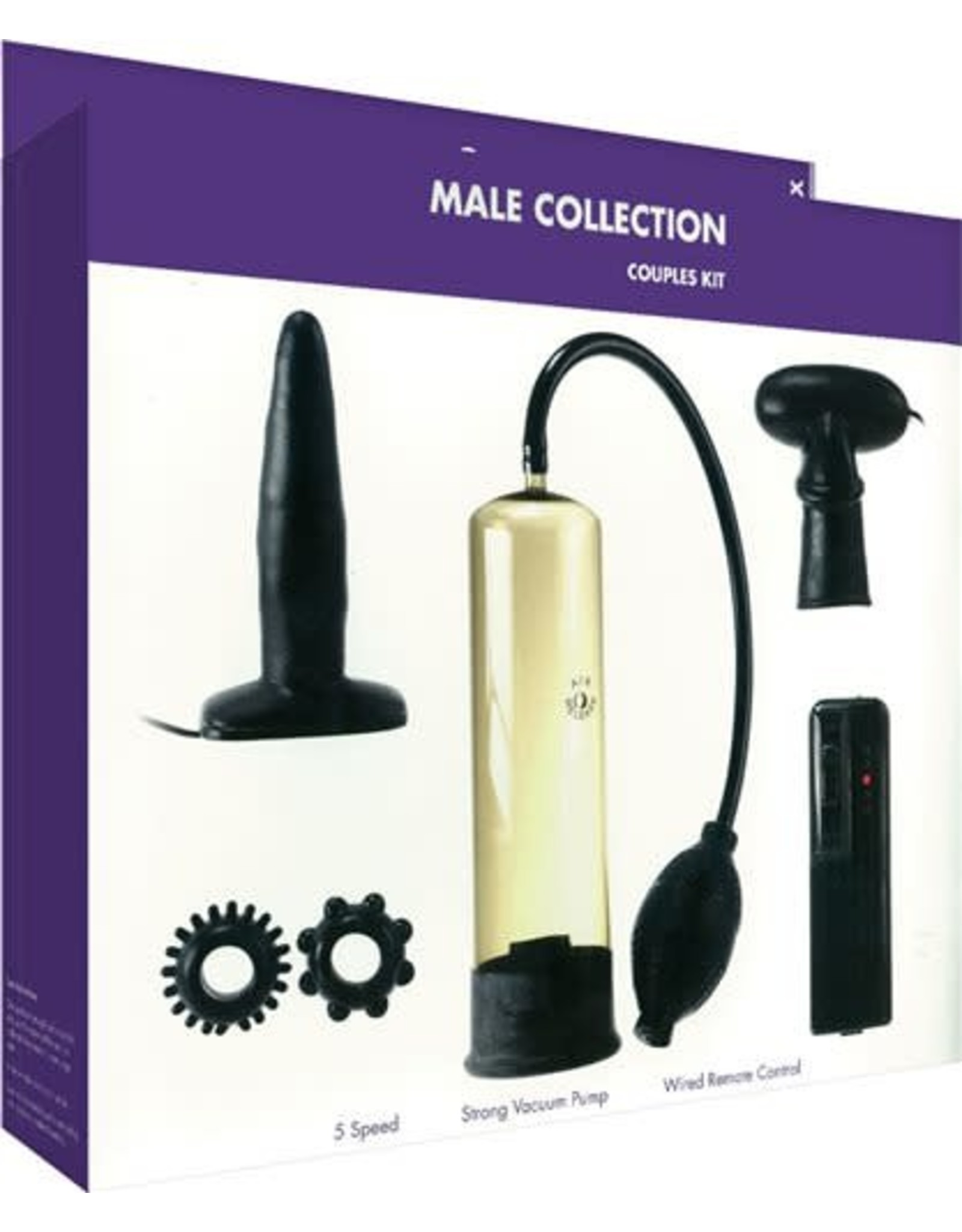 KINX - MALE COLLECTION COUPLES KIT - BLACK