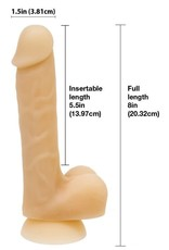 ADDICTION   DAVID 8  BENDABLE SILICONE DILDO