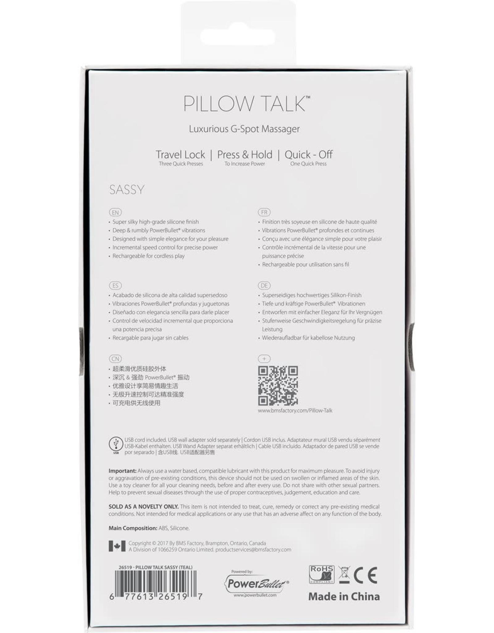 PILLOW TALK - SASSY - TEAL