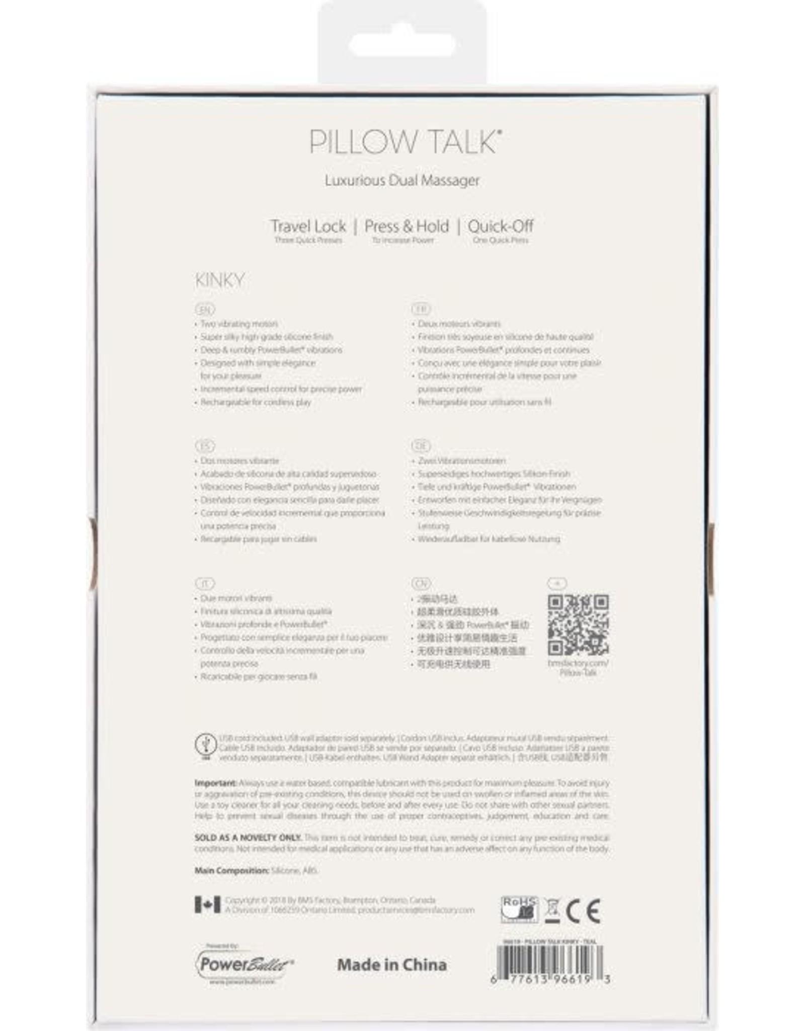 PILLOW TALK - KINKY - TEAL