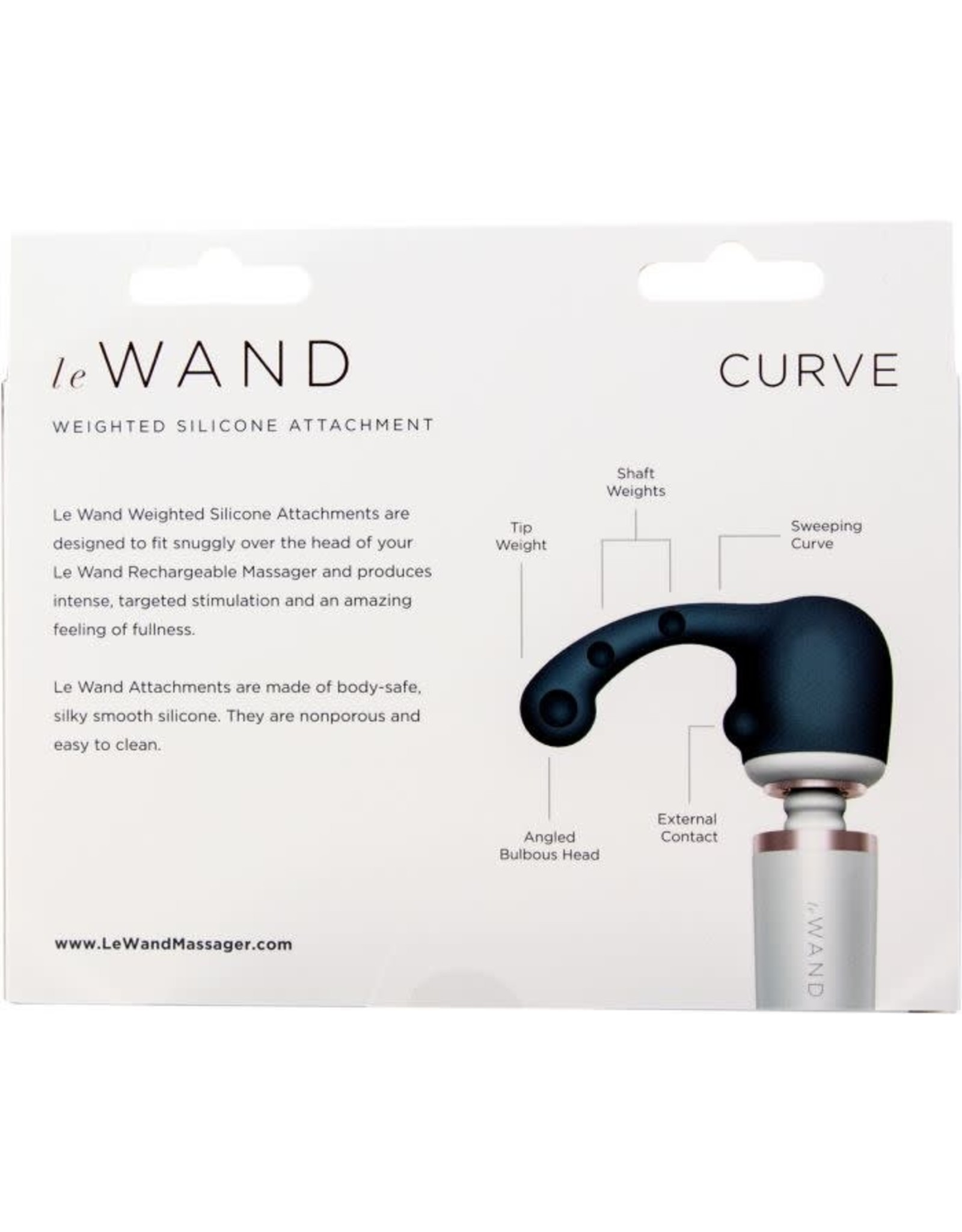 LE WAND - CURVE SILICONE WEIGHTED ATTACHMENT - GREY