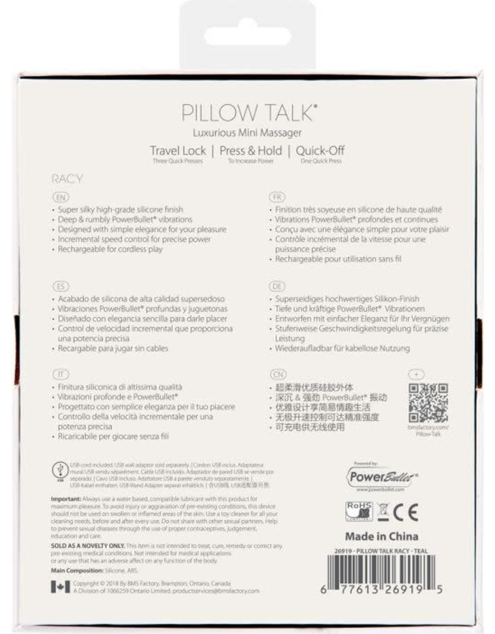 PILLOW TALK - RACY - TEAL