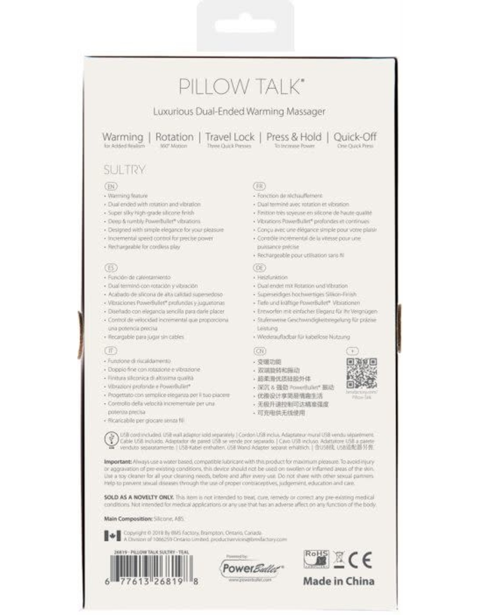 PILLOW TALK - SULTRY - TEAL