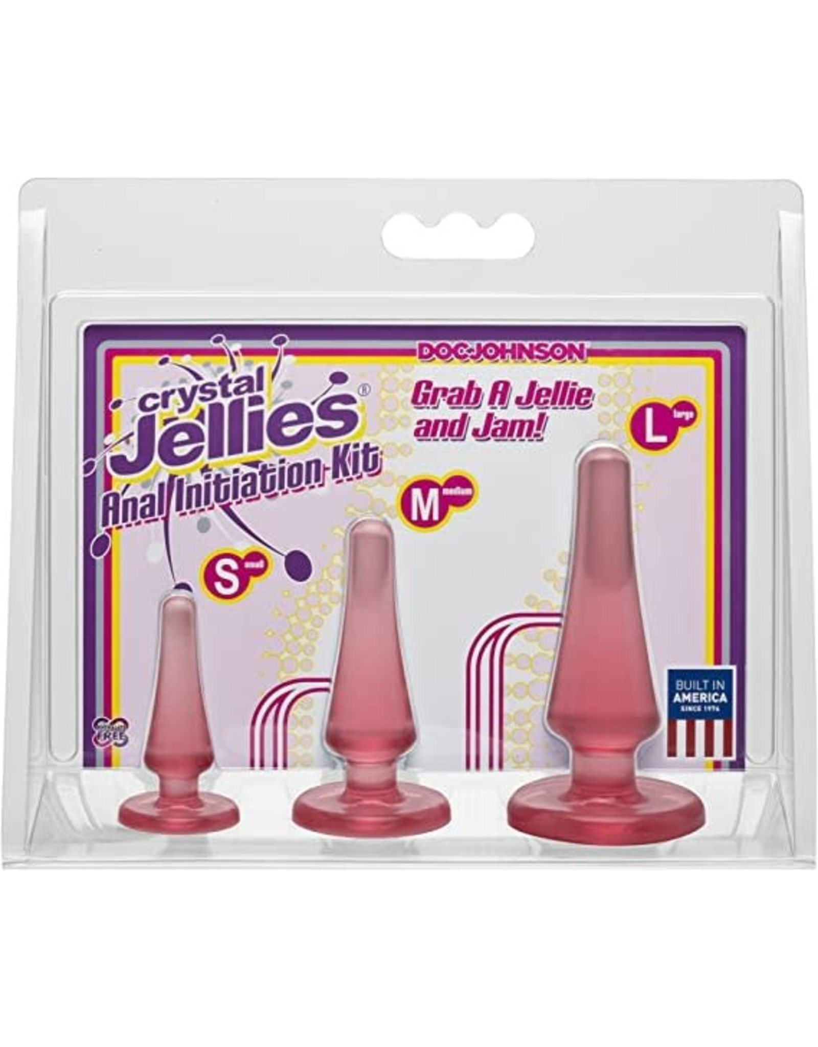 CRYSTAL JELLIES - ANAL INITIATION KIT - PINK