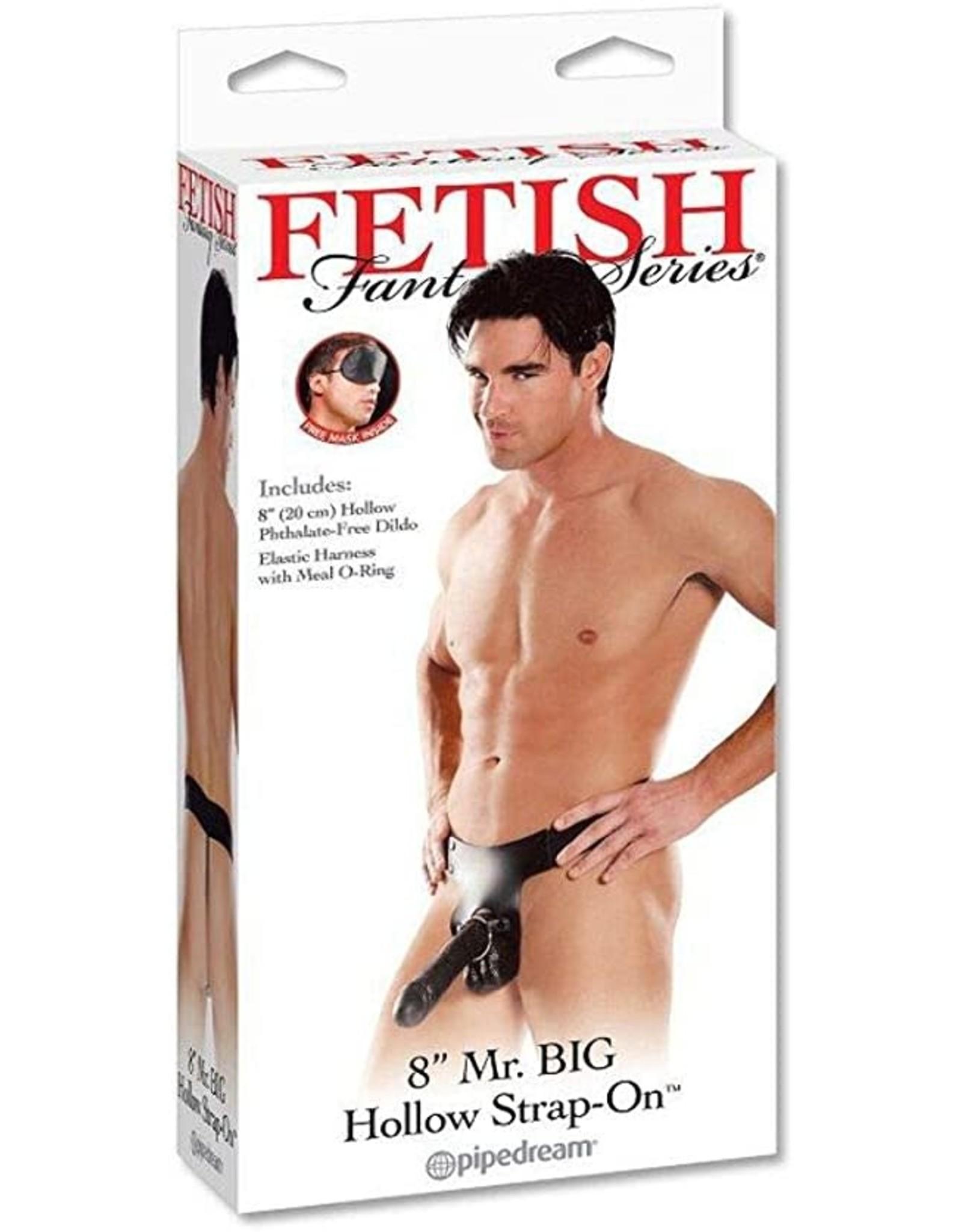 "FETISH FANTASY FETISH FANTASY - MR.BIG 8"" HOLLOW - LICORICE"