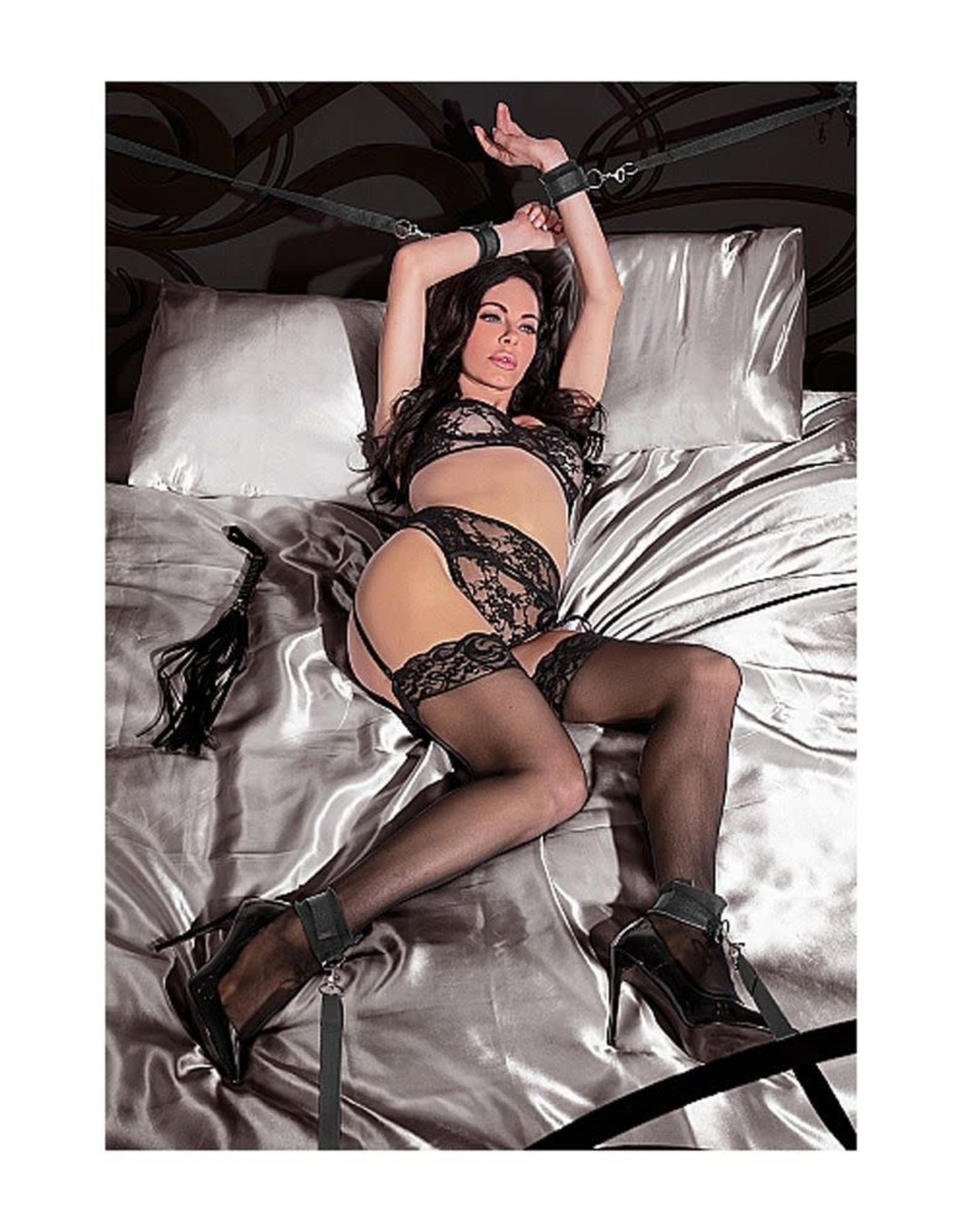 OUCH OUCH! - BED BINDINGS RESTRAINT KIT - BLACK