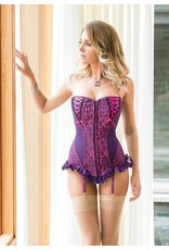 COQUETTE CORSET LACE CUP W/FRILL TRIM MEDIUM