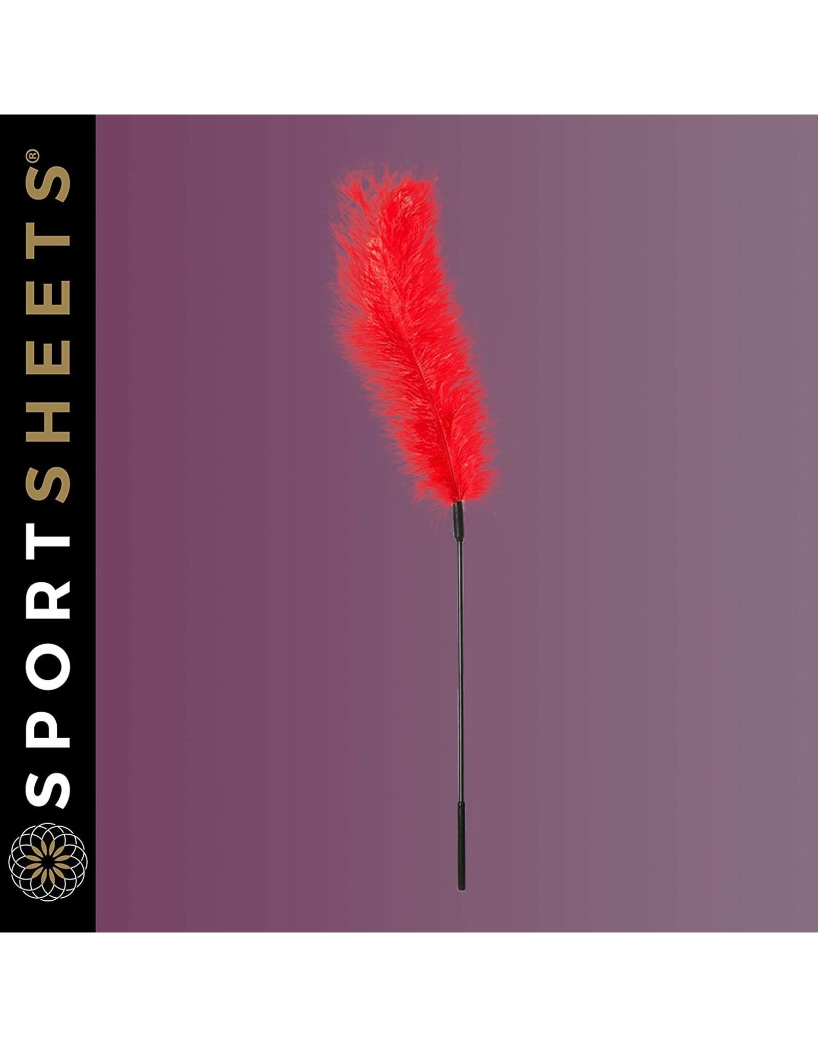 SPORTSHEETS - OSTRICH FEATHER TICKLER - RED