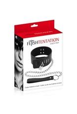 FETISHTENTATION - CHOKER PADLOCK & LEASH SET