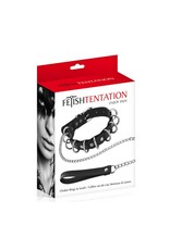 FETHISHTENTATION - CHOKER RING & LEASH SET