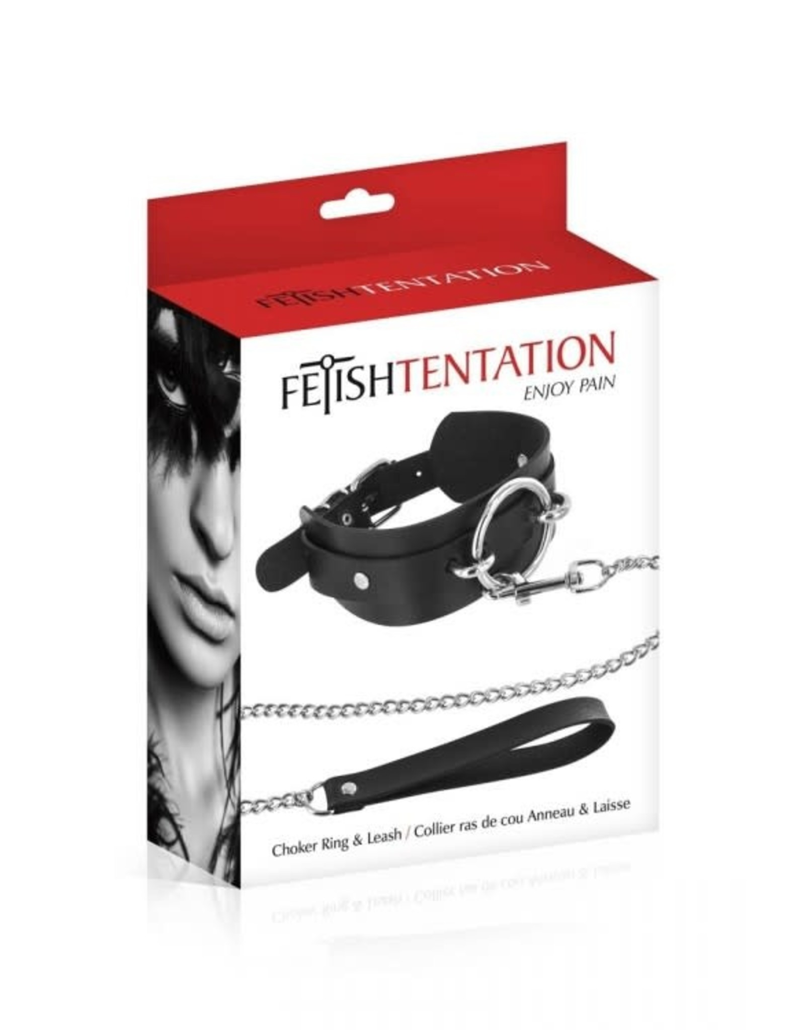FETISH TENTATION - CHOKER O-RING & LEASH SET