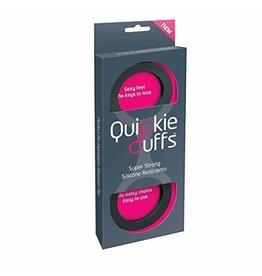 QUICKIE CUFFS - MEDIUM SILICONE - BLACK