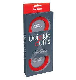 QUICKIE CUFFS - MEDIUM SILICONE - RED