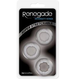 NSNOVELTIES RENEGADE - INTENSITY RINGS - CLEAR
