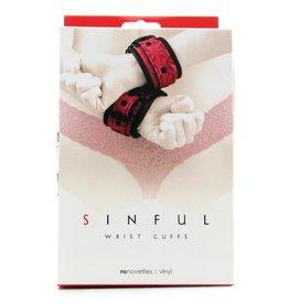 NSNOVELTIES SINFUL - WRIST CUFFS - PINK
